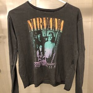 Nirvana Long-sleeve Crop Tee from Cotton On